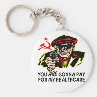 Ladrón: Usted va a pagar mi atención sanitaria Llavero Redondo Tipo Pin
