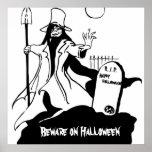 Ladrón y piedra sepulcral graves enojados Hallowee