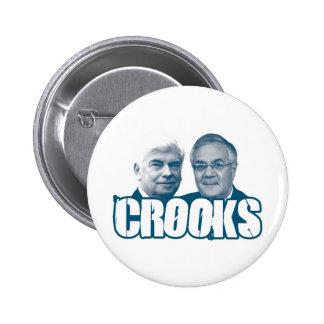 LADRONES: Chris Dodd y Barney Frank Pin Redondo De 2 Pulgadas