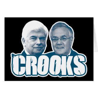 LADRONES: Chris Dodd y Barney Frank Tarjeta De Felicitación