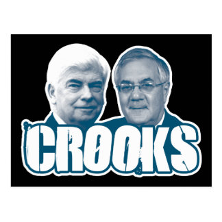 LADRONES: Chris Dodd y Barney Frank Tarjetas Postales