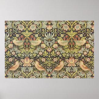 Ladrones de William Morris, materias textiles de Póster