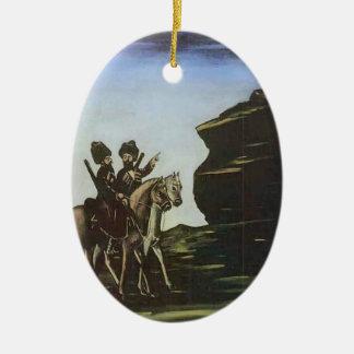 Ladrones que consiguen listos para una incursión adorno ovalado de cerámica