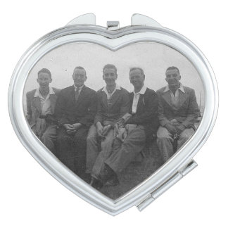 Lads Day Out Vintage Image Heart Compact Mirror Compact Mirror