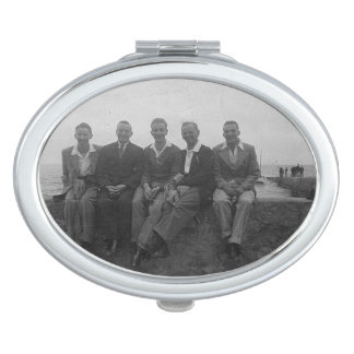 Lads Day Out Vintage Image Oval Compact Mirror Compact Mirrors
