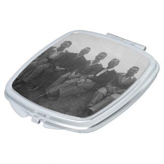 Lads Day Out Vintage Image Square Compact Mirror Makeup Mirrors