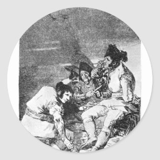 Lads getting on with the job by Francisco Goya Classic Round Sticker