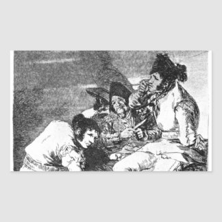 Lads getting on with the job by Francisco Goya Rectangular Sticker