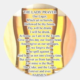 Lads Prayer Stickers