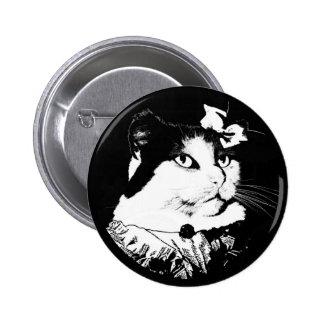 Lady Abigail Cat Button