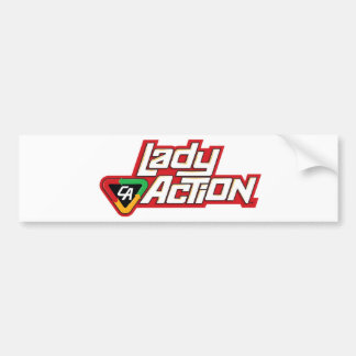 Lady Action Mug - Paul Gulacy Artwork Car Bumper Sticker