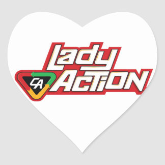 Lady Action Mug - Paul Gulacy Artwork Heart Sticker