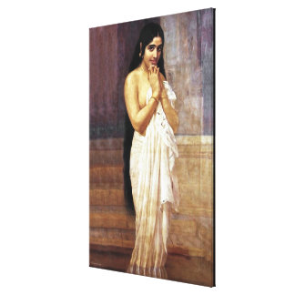 Lady After Bath Stretched Canvas Print