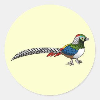 Lady Amherst's Pheasant Classic Round Sticker