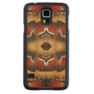 Lady Amherst's Pheasant Feather Design Carved Maple Galaxy S5 Slim Case