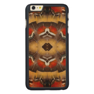 Lady Amherst's Pheasant Feather Design Carved Maple iPhone 6 Plus Case