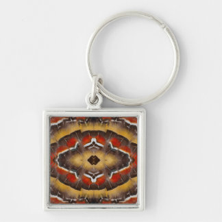 Lady Amherst's Pheasant Feather Design Keychain