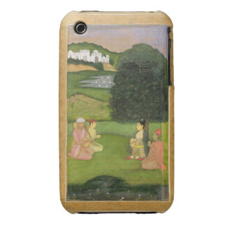 Lady and attendant listening to music at sunset, f Case-Mate iPhone 3 case