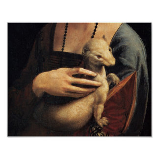 Lady and Ermine - Ermine Poster