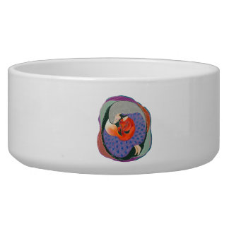 Lady and Fox. Bowl