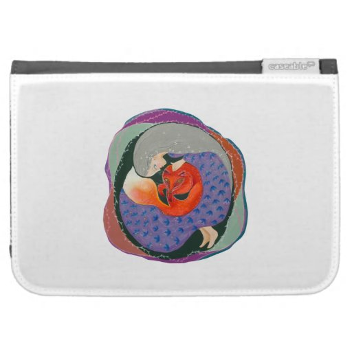 Lady and Fox. Case For The Kindle