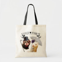 """""""Lady and Gentleman"""" ferret Tote Bag"""
