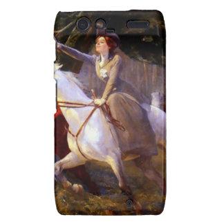Lady and Gentleman Riding Horses Romantic Love Droid RAZR Case