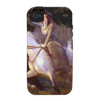Lady and Gentleman Riding Horses Romantic Love Case For The iPhone 4