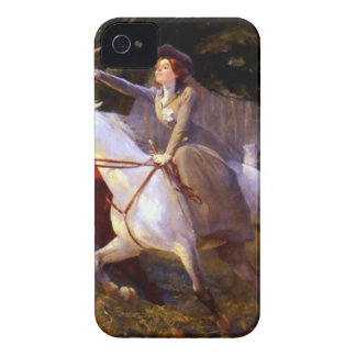 Lady and Gentleman Riding Horses Romantic Love Case-Mate iPhone 4 Cases