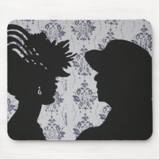 Lady and Gentleman Silhouette Mousepad