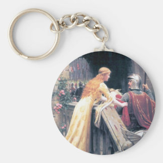 Lady and Knight castle Keychain