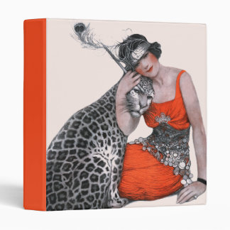Lady and Leopard Vinyl Binder