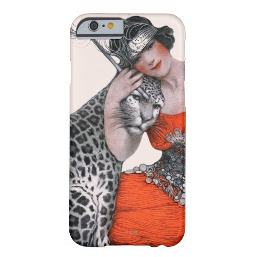 Lady and Leopard iPhone 6 Case