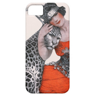 Lady and Leopard iPhone 5 Covers
