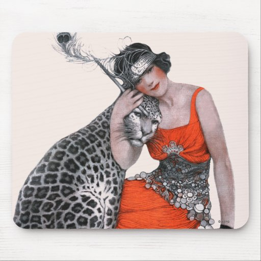 Lady and Leopard Mouse Pads