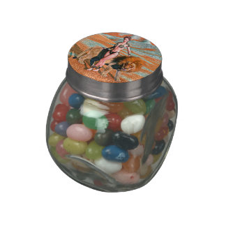 Lady and Lion Jelly Belly Candy Jars