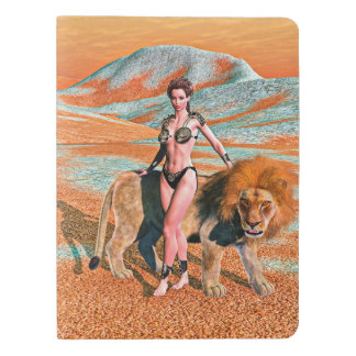 Lady and Lion Extra Large Moleskine Notebook Cover With Notebook