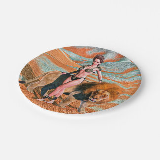 Lady and Lion Paper Plate