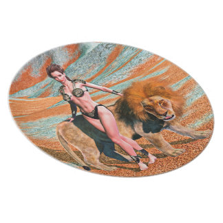 Lady and Lion Plate
