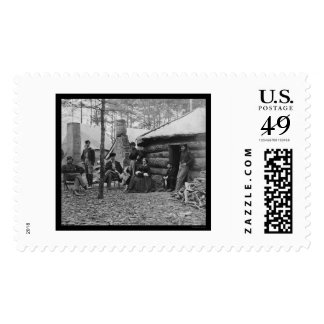 Lady and Officers at Brandy Station, VA 1864 Stamps