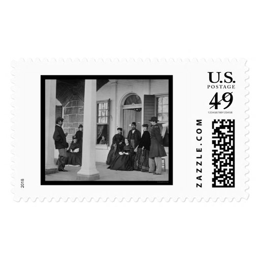 Lady and Officers at Fort Monroe, VA 1864 Stamps