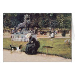 Lady and PBGV in the Park Card