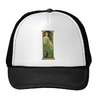 Lady and Peacock Trucker Hat