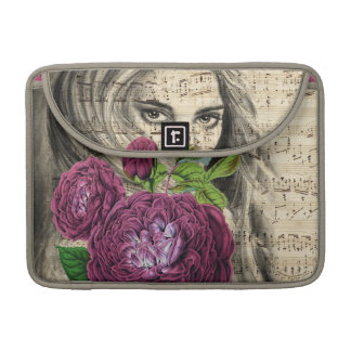Lady And Rose Collage MacBook Pro Sleeve