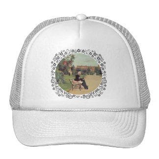 Lady and Scottie in the Park Trucker Hat