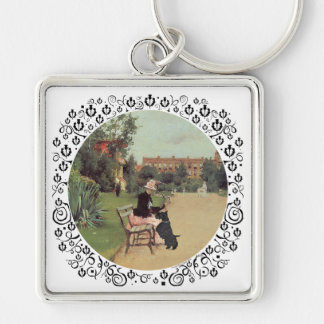 Lady and Scottie in the Park Keychains