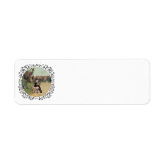 Lady and Scottie in the Park Return Address Label
