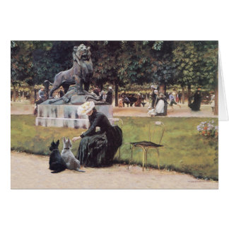 Lady and Scotties in the Park Greeting Card