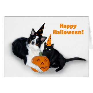 Lady and Spooky Happy Halloween Card