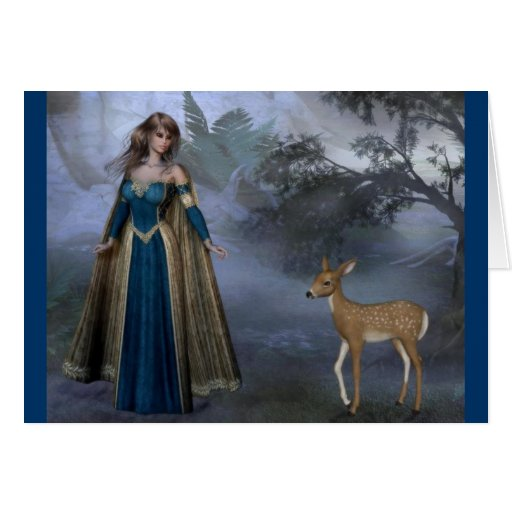 Lady and the Fawn Card